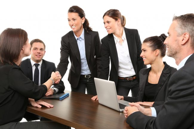 group of business people networking