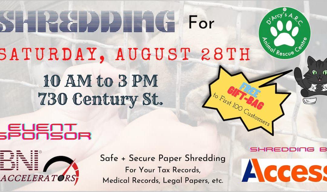 Charity Event – Shredding For D'Arcy's ARC – Fundraiser